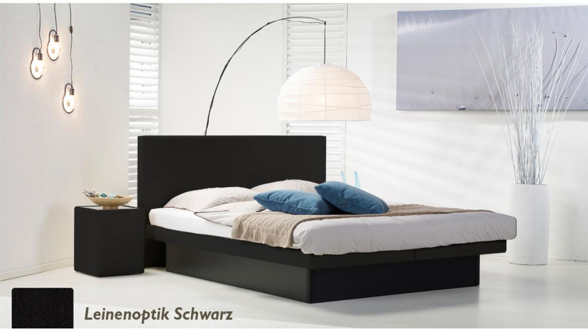 wasserbett luxus pro podest leinenoptik schwarz