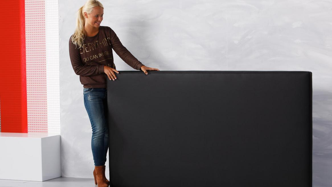 wasserbett luxus pro kopfteil schwarz