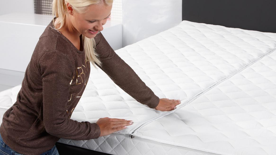 Luxus Klima Doppeltuch Wasserbett Bezug Reißverschluss Detailansicht