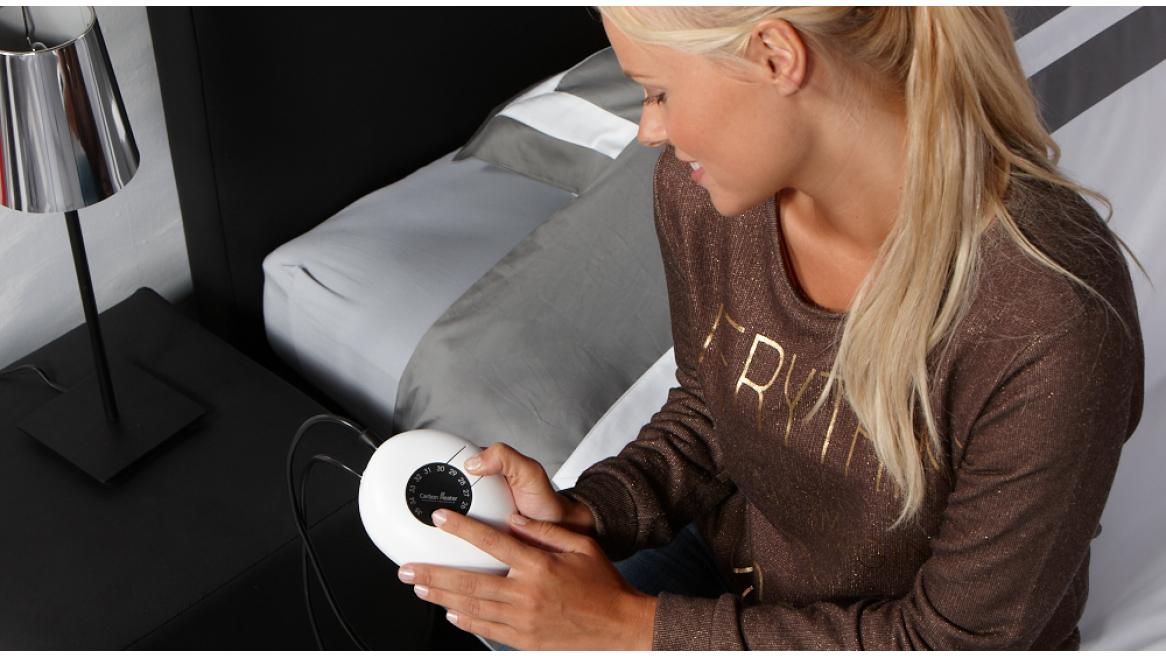 Wasserbett Heizmatte Carbon Classic Analog an das Thermostat koppeln