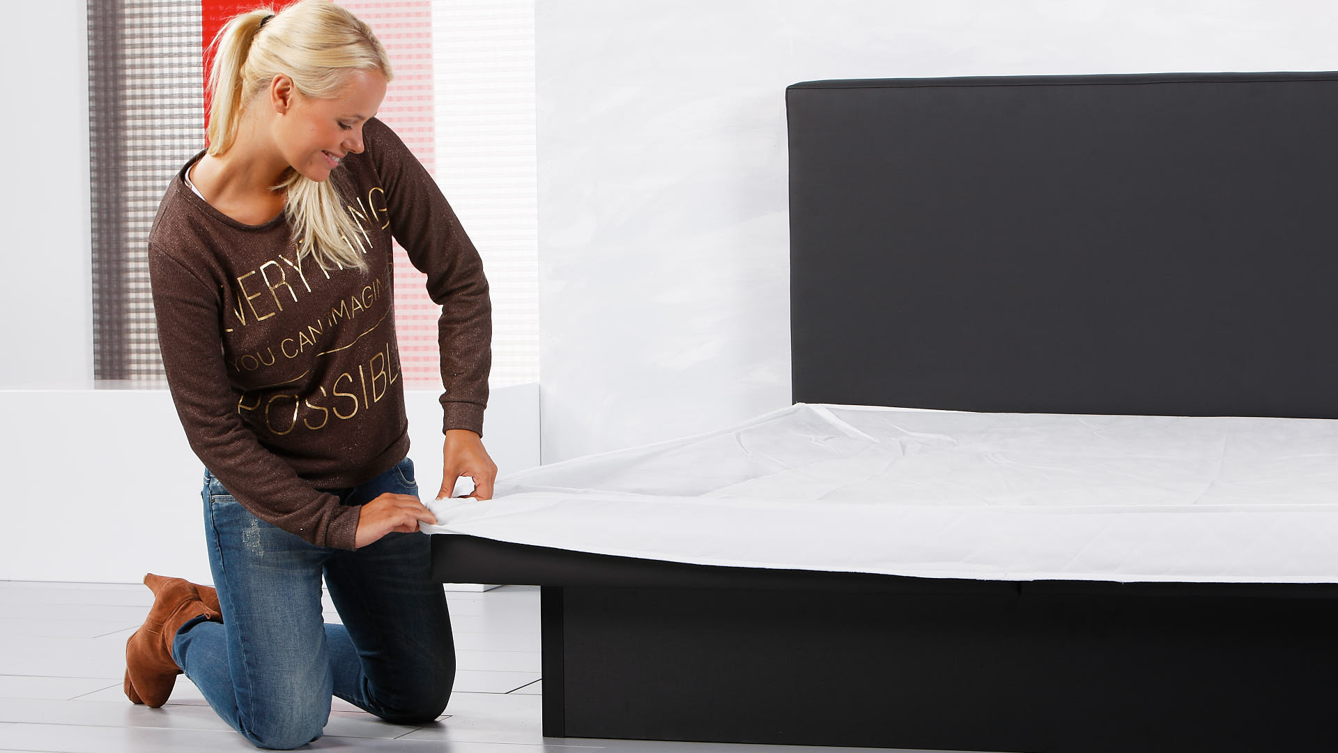 Wash-Cotton-Stretch Matratzenbezug richtig anbringen
