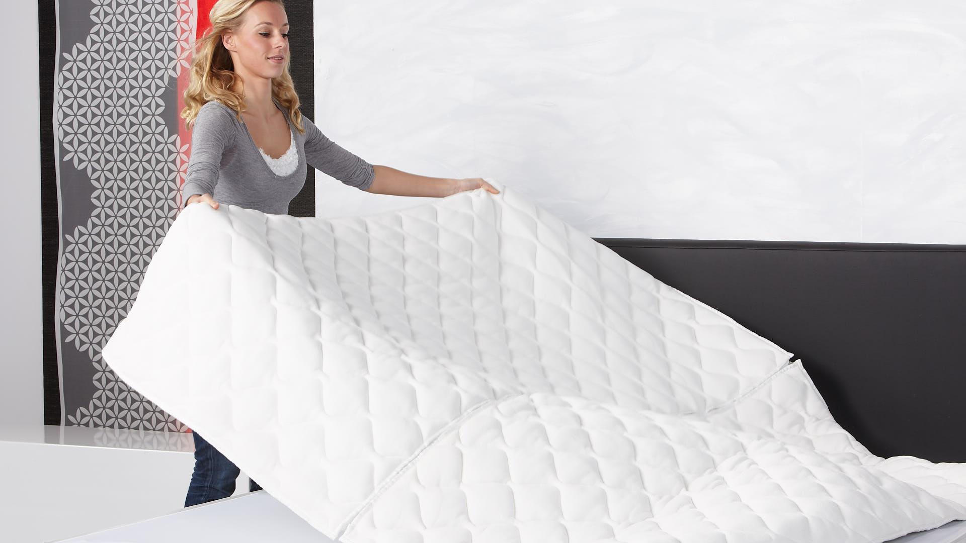 Luxuriöser Klima-Doppeltuch-Wasserbettbezug mit Reißverschluss